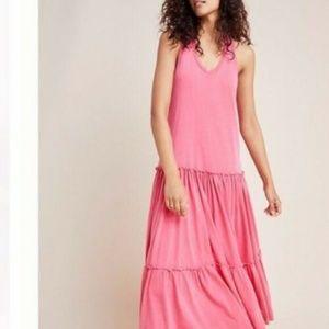 Anthropologie Dresses - Sundry Anthropologie Tiered Sleeveless Maxi Dress